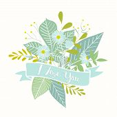 foto of i love you mom  - Beautiful Hand Drawn Floral Greeting  - JPG