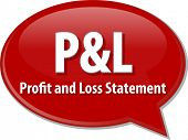 picture of statements  - word speech bubble illustration of business acronym term P - JPG