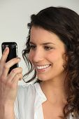 Portrait of a woman with mobile phone