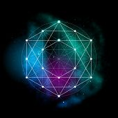 Sacred geometry abstract vector illustration. Symbol of alchemy, religion and spirituality. Metatron poster
