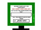 Income Tax Preparation Advertisement Sign