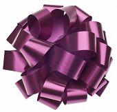 Arco del regalo púrpura metálico grande