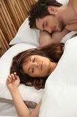 Portrait of a sleeping couple