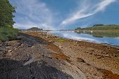 stock photo of bute  - Loch Linnhe a nine and a half mile sea loch in Argyll and Bute Scotland - JPG