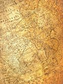 India and some other countries on an ancient map