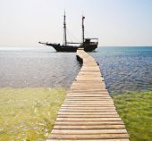 pic of pirate ship  - Under Jolly Roger - JPG