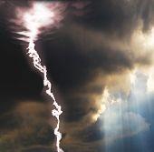 Wenn Sonne und Blitz zusammen kommen