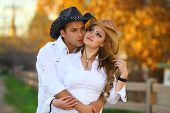 Cowboy And Cowgirl Kissing