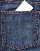 Card In Jeans Pocket