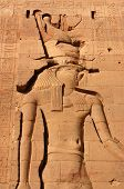 pic of isis  - A deep carving of the Ancient Egyptian God  - JPG