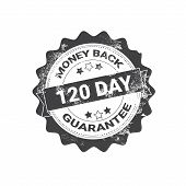Money Back Guarantee Badge Black Grunge Sticker Or Stamp Template Isolated Vector Illustration poster