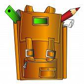 Penci e régua do porta-arquivos