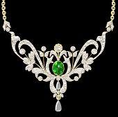 Illustration Wedding Pendant Necklace
