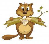 Cartoon Character Beaver