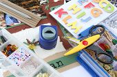 image of paper craft  - A selection of scrapbooking  - JPG