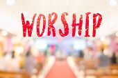 The Word worship And The Hall In Church Christian Music Concert. poster