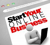 A website screen promises to instruct you on how to set up and launch your own web presence for your