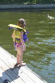 Toddler On Dock