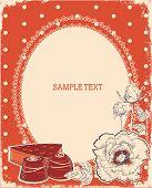 Постер, плакат: Цветочные открытки с конфеты vector Винтаж фоном