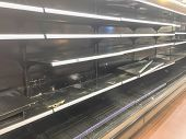 Empty Shelves At Grocery Store In America poster
