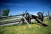 pic of yanks  - Napoleon artillery battery near Angle Gettysburg National Historical Battlefield Pennsylvania