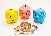 Piggy bank money boxes