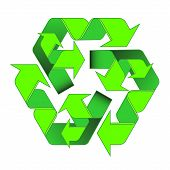 Green Arrows Recycle Is A Two-level Of The Cyclic Processing. Eco Symbol Vector Illustration Isolate poster