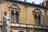 Verona (veneto, Italy), Piazza Dei Signori, Historic Square With Statue