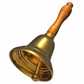 Golden Christmas handbell