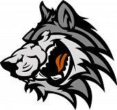 Lobo mascota gráfico