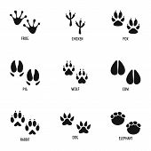 Постер, плакат: Mark Of The Beast Icons Set Simple Set Of 9 Mark Of The Beast Vector Icons For Web Isolated On Whit