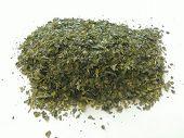 Green tea pile