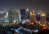 Night view of Jakarta city