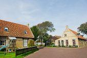 Old Dutch village Hollum on island Ameland