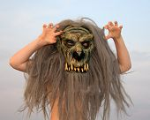 Girl In Terrible Mask