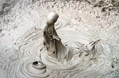 Boiling Mud Is Photographed At High Speed At The Wai-o-tapu Thermal Wonderland In New Zealand. poster