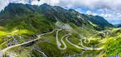 Wonderful Mountain Scenery. Mountain Road With Perfect Blue Sky. Creative Image. Transfagarasan High poster