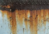 Metal Rust Texture With Rivets, Abstract Grunge Background poster