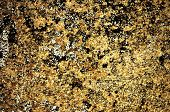 Gold Color Grunge Stained On Cement Wall, A Close Up Image Of A Grunge Stained On A Cement Wall Pres poster