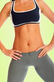 picture of flat stomach  - Sporty Body  - JPG