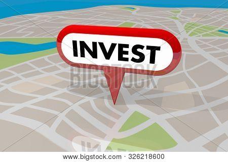 poster of Invest Real Estate Property Asset Investment Buy 3d Illustration