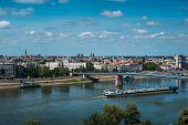Novi Sad Cityscape Over The Danube River In North Serbia poster