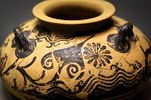 Vase From The Excavations In Greece. Painted Archeological Pottery. Remains Of Ancient Greek Culture poster