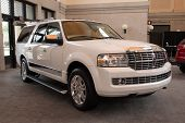 JACKSONVILLE, FLORIDA-FEBRUARY 18: A 2012 Lincoln Navigator SUV at the Jacksonville Car Show on Febr