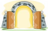Illustration of a Gate Wide Open
