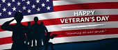 2Army Stand For Happy Veteran's Day.honoring All Who Served. Usa Waving Flag.- Horizontal Banner-vec poster