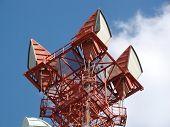 Horn Antennas Atop Transmitting Tower