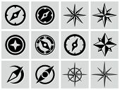 stock photo of compass  - Compasses icons set - JPG