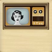 Retro Television Message Background