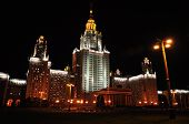 Lomonosov Moscow State University At Evening